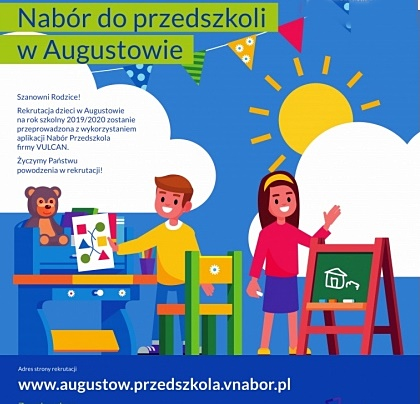 Publiczne przedszkola prowadzone przez Gminę Miasto Augustów zapraszają dzieci i rodziców
