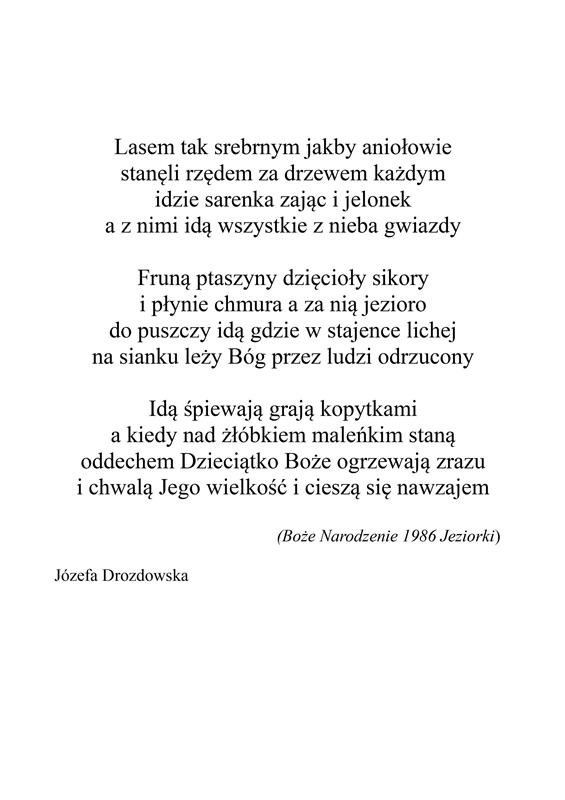 Kolęda Wiersz Józefy Drozdowskiej Augustóworg