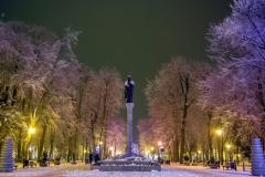 Rynek Z. Augusta zimą @zbigniew bartoszewicz-001